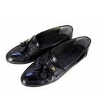 イヴサンローラン YVES SAINT LAURENT タッセル ローファー レザー シューズ 革 靴 サイズ25EE 黒 ブラック