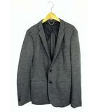 ヴァンキッシュ VANQUISH セットアップ 上下セット スーツ ジャケット パンツ スウェット地 ウール 起毛 シングルボタン 無地 チャコールグレー L