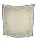 マーガレットハウエル MARGARET HOWELL スカーフ 大判 シルク 絹 スクエア 正方形 ファッション小物 ベージュ ブルー レディース