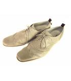 キャサリンハムネットロンドン KATHARINE HAMNETT LONDON レザー シューズ 革 靴 ウイングチップ メダリオン ベージュ系 サイズ26.5