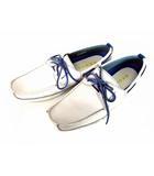 リーガル REGAL デッキ シューズ 2アイレットモカ 革 靴 レザー 160R AD 白 ホワイト サイズ26.5