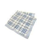 バーバリー BURBERRY チェック シルク ハンカチ スカーフ ノバチェック ブルー