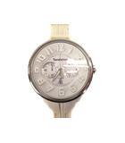テンデンス Tendence ラウンドガリバー 腕時計 ウォッチ クロノグラフ クォーツ ラバーベルト 02036013AA ホワイト シルバー