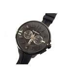 テンデンス Tendence ラウンドガリバー 腕時計 ウォッチ クロノグラフ クォーツ ラバーベルト 02036010 ブラック