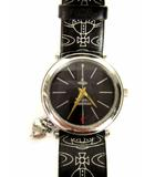 ヴィヴィアンウエストウッド Vivienne Westwood 腕時計 ウォッチ VV006BKBK クオーツ アナログ レザーベルト 3針 チャーム 黒 ブラック シルバー ☆AA★