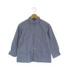 ベベ bebe コットン シャツ 長袖 フロントボタン ネイビー 紺 120 子供服