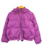 ミラオーウェン Mila Owen 裾リボン付 ショート ダウンジャケット 上着 アウター フード 無地 09WFJ185005 紫 0