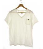 シュペリオールレイバー THE SUPERIOR LABOR トップス カットソー Tシャツ 半袖 Vネック ポケット 白 M