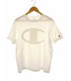 チャンピオン CHAMPION 半袖 Tシャツ カットソー ビッグロゴ プリント 綿 コットン サイズL 白 ホワイト C8-M390