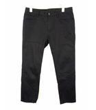 コムサメン COMME CA MEN コットン パンツ スリム ストレート ストレッチ 無地 綿 黒 ブラック サイズS
