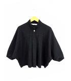 ヤッコマリカルド YACCOMARICARD 七分袖 シャツ シャツジャケット ピンタック ドルマンスリーブ スタンドカラー 綿 コットン 黒 ブラック