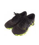 アシックス asics ランニングシューズ GEL-KAYANO 靴 メッシュ TJG957 黒 イエロー 25cm
