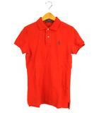 ラルフローレン RALPH LAUREN トップス ポロシャツ 鹿の子 半袖 ロゴ 刺繍 ワンポイント オレンジ 紺 L