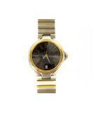 ダンヒル dunhill 腕時計 ウォッチ クォーツ 3針 日付カレンダー ブラック シルバー ゴールド