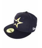 ニューエラ NEW ERA ベースボール キャップ 野球帽 帽子 刺繍 ネイビー 紺 サイズ57.7cm Cooperstown Collection タグ付き