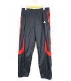 アディダス adidas ジャージ ロング パンツ ボトム トレーニングウェア 3本ライン 紺 赤 O