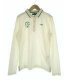 キャロウェイ CALLAWAY トップス ポロシャツ ゴルフウェア 長袖 鹿の子 ロゴ 刺繍 アイボリー グリーン LL