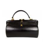 ゴールドファイル GOLD PFEIL ワンハンドバッグ かばん 鞄 がま口 レザー 黒 ブラック