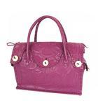 グレースコンチネンタル GRACE CONTINENTAL Maestra マエストラM カービングトライブス カービングバッグ ハンドバッグ かばん 鞄 レザー 紫 パープル