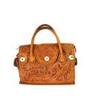 グレースコンチネンタル GRACE CONTINENTAL カービングバッグ ハンドバッグ かばん 鞄 レザー ブラウン 茶