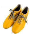 アディダス adidas アディゼロ adizero ゴルフシューズ 靴 バイカラー イエロー系 黄 グレー 24.5cm