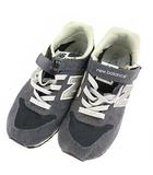 ニューバランス NEW BALANCE スニーカー 靴 シューズ KV966 ベルクロ ネイビー 紺 21.0cm ジュニア