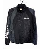 アスレタ ATHLETA ウインドブレーカー ジャケット ジップアップ スポーツウェア サッカー フットサル 長袖 黒 ブラック サイズM