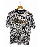 ペネトラール penetrar スポーツウェア トップス プラクティスシャツ Tシャツ ゼブラ柄 サッカー フットサル ブラック ホワイト 黒 白 M