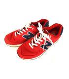 a3bf6565e5f35 ニューバランス NEW BALANCE スニーカー シューズ 靴 ML574POR 赤 紺 レッド ネイビー サイズ27cm