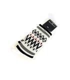 マンシングウェア MUNSINGWEAR 靴下 ソックス 厚手 模様 柄ソックス 日本製 白 ホワイト 25-27cm タグ付き