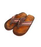 クラークス clarks サンダル 靴 フリップフロップ トング グレーブラウン ベージュ レッド 茶系