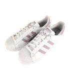 アディダス adidas スーパースター W SUPER STAR W スニーカー シューズ 靴 天然皮革 3本ライン DB3347 白 ラベンダー系 28cm