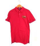 ポロ バイ ラルフローレン Polo by Ralph Lauren トップス ポロシャツ 半袖 ロゴ 刺繍 コットン 赤 170