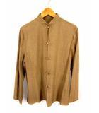 ヨーガンレール JURGEN LEHL セットアップ 上下セット シルク 絹 長袖 スタンドカラー シャツ ロング スカート ベージュ サイズM タグ付き