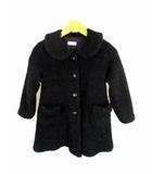 シャーリーテンプル Shirley Temple 長袖 コート ブークレ ウール フロントボタン サイズ120 黒 ブラック 子供服