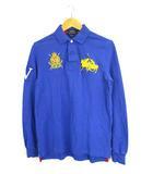 ポロ ラルフローレン POLO RALPH LAUREN トップス ポロシャツ 長袖 ロゴ 刺繍 コットン 青 黄 S 170/92A