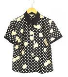 インゲボルグ INGEBORG セットアップ 上下セット 半袖 シャツ ロング パンツ ドット柄 バラ 黒 アイボリー M L