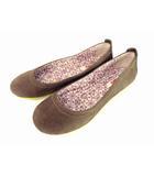 カンペール CAMPER パンプス バレエシューズ フラットシューズ レザー 革 ブラウン系 茶系 サイズ37 靴