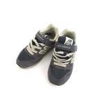 ニューバランス NEW BALANCE ロゴ スニーカー シューズ ベルクロ KV996CNY 靴 ネイビー 紺 19.0 子供用 子供靴
