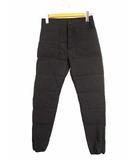 ナンガ NANGA WHITE LABEL ホワイトレーベル ダウン パンツ ロング 裾ジッパー 60/40クロス コットン ナイロン 黒 XS