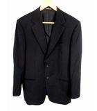 セルッティ CERRUTI 1881 シングル スーツ セットアップ 上下セット ブラックフォーマル 礼服 無地 ウール モヘヤ 黒 ブラック 背抜き