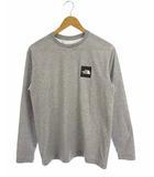 ザノースフェイス THE NORTH FACE NUPTSE TEE トップス Tシャツ 長袖 ロンT スクエア ロゴ プリント NT81816Z グレー M