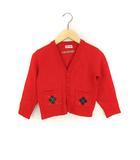 ミキハウス mikihouse アーガイル ニット カーディガン フロントボタン 前開き 長袖 レッド 赤 110 子供服