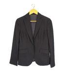 ニューヨーカー NEWYORKER テーラードジャケット パンツ セットアップ 上下 スーツ シルク混 ウール ネイビー 紺 11号