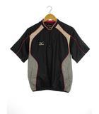 ミズノ MIZUNO ハーフZIP ウインドシャツ ジャケット 半袖 ウィンドブレーカー プルオーバー 野球 ウェア ネイビー ピンク M