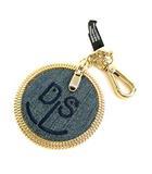 ディーゼル DIESEL キーホルダー チャーム ロゴ デニム ファッション小物 ゴールド ブルー