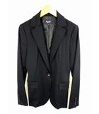 エムプルミエ M-Premier パンツスーツ スーツ セットアップ 上下セット ウール ポリエステル ストレッチ 無地 ジャケット パンツ 総裏 黒 ブラック サイズ36