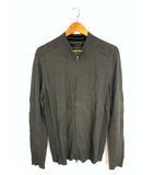 カルバンクラインジーンズ Calvin Klein Jeans ジャケット ニット 上着 ジップアップ スタンドカラー コットン ロゴ ワンポイント グレー系 灰 XL