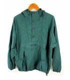 パタゴニア Patagonia 長袖 アノラックパーカー ジャケット ハーフボタン プルオーバー 緑 グリーン サイズLL 台湾製