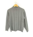 ビームス BEAMS ジップアップ ニット ジャケット フルジップ 長袖 グレー M ウール セーター